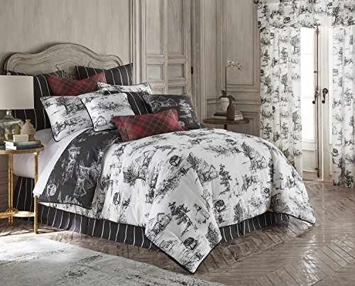 - Toile Back in Black Reversible Comforter Set California King