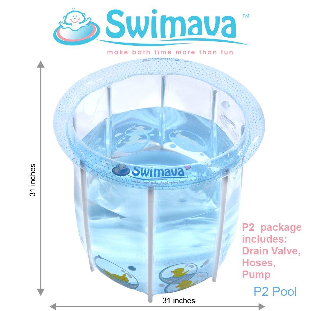 Amazon.com : Swimava inflatable Baby Swimming Pool, Bath Tub ...