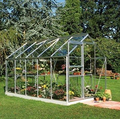 Halls Popular 106 - Invernadero de cristal de 6, 2 m²: Amazon.es: Jardín