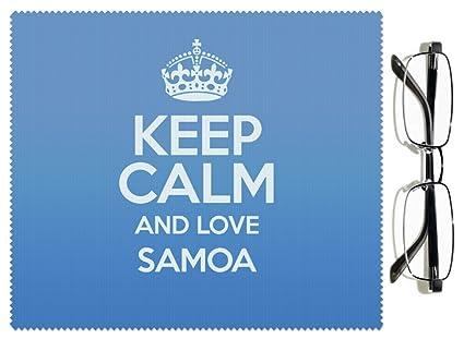BLUE Keep Calm and Love Samoa Lens Cloth COLOUR 1824: Amazon co uk