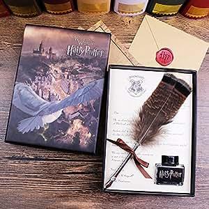 ECVISION Antique Dip Feather Pen Set Calligraphy Pen Set Writing Quill Ink Dip Pen