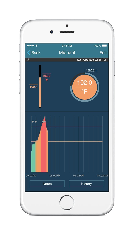 TempTraq NEW MODEL Continuous 24 Hour Temperature Monitor
