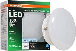 SYLVANIA General Lighting 75113 15W (100W Equivalent) Ultra LED Medium Base Retrofit for Ceiling Light Fixtures - 4000K (Bright White)