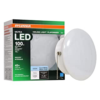 SYLVANIA General Lighting 75113 60W Equivalent Ultra LED Medium Base Retrofit for Ceiling Light Fixtures - 4000K (Bright White)