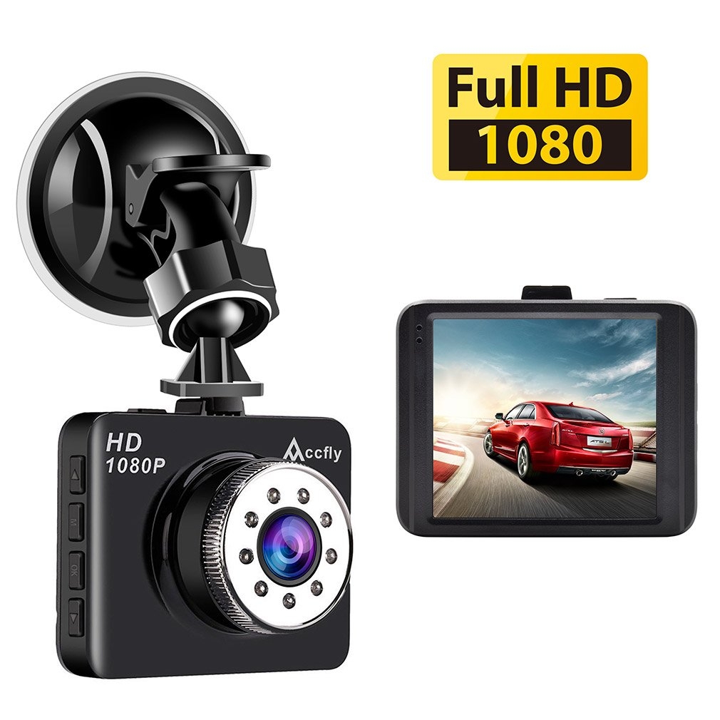 Mini Dash Cam, 2.7' LCD Dashboard Camera Full HD 1080P120° Wide Angle Car Camera Driving Recorder With Night Vision,G-sensor,Loop Recording,Parking Monitor, Motion Detection. Accfly