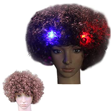Amazon.com   Athli 14 Pc Rainbow Colored LED Light Up Wig Party ... 09c7218d6