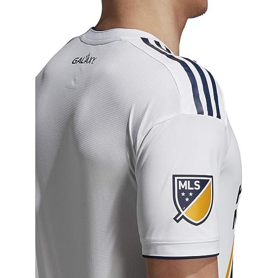 Amazon.com: adidas LA Galaxy 2018 hogar SS auténtico Jersey ...