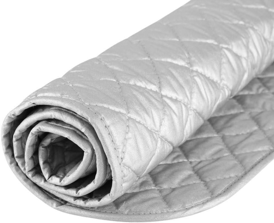 48 * 85cm sin im/án Manta de Planchar de algod/ón Gris Estera de Vapor Resistente al Calor Without Magnet Estera de Planchar Plegable