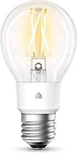 Kasa Smart Wi-Fi LED Bulb by TP-Link, Filament A19 E26 Smart Light Bulb, Soft White 2700K, Dimmable, No Hub Required,Compatible with Alexa & Google Assistant,Antique Vintage Style (KL50)