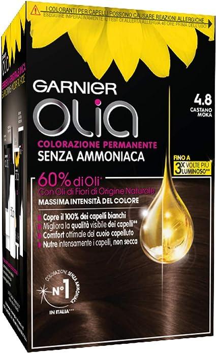 Garnier Olia Coloración permanente 4.8 Castano Moka: Amazon ...