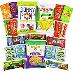 Healthy College Care Package (20 Count) - Granola bars, fruits snacks, popcorn, veggie chips, and more! CollegeBox Variety Assortment Bundle - Great Valentine's Day Gift