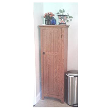 Rustic Pantry Cabinet Shelves Corner Country Farmhouse Wooden Organizer  Storage Kitchen Furniture U0026 EBook By OISTRIA