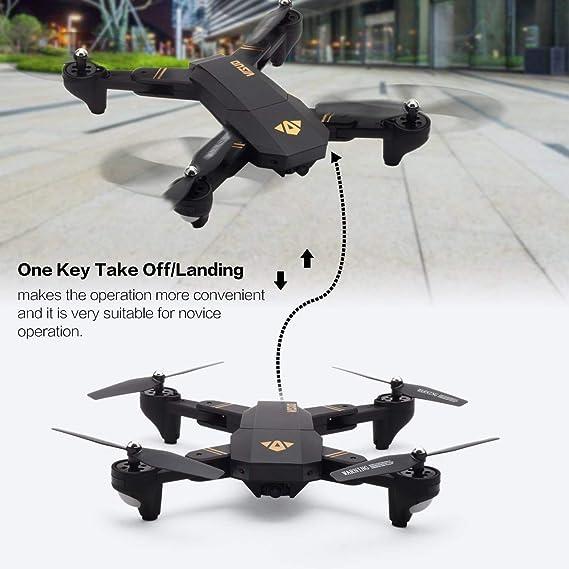 VISUO XS809HW 2.4G Plegable FPV Selfie Drone RC Quadcopter con ...