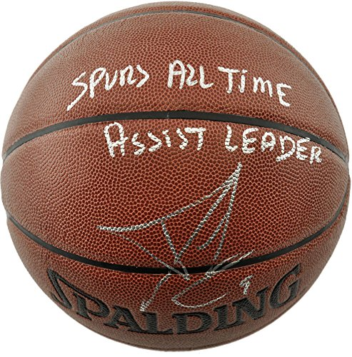 tony-parker-san-antonio-spurs-autographed-spalding-indoor-outdoor-basketball-with-spurs-all-time-ass