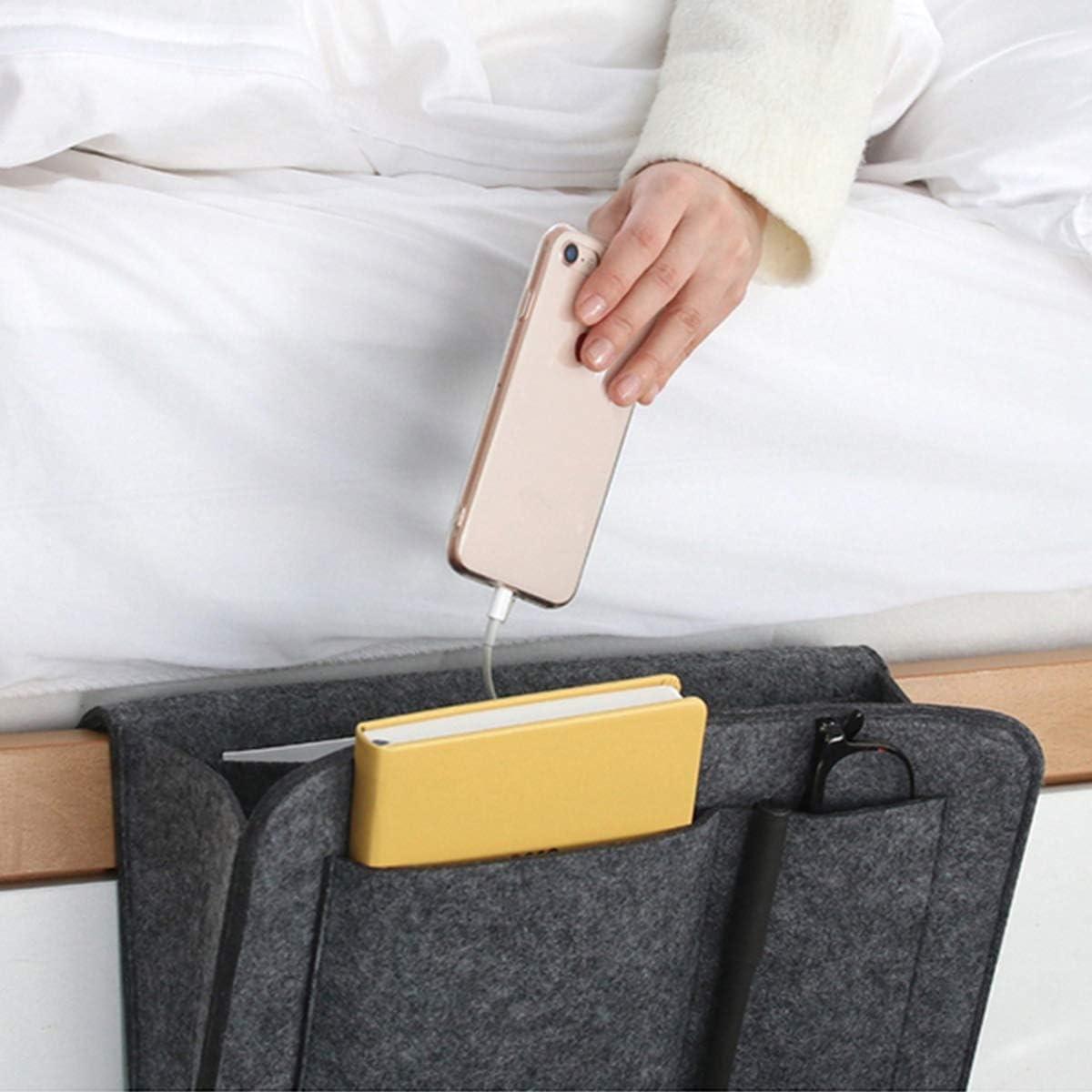 Benradise Sac de Chevet /à Accrocher Organisateur Suspendu Portable pour T/él/éphone Lires Lunettes Tablette Ordinateur