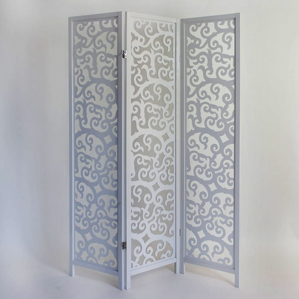 PEGANE Biombo de Madera Color Blanco de 3 Paneles: Amazon.es: Hogar
