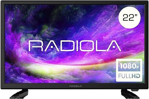 Televisor Led 22 Pulgadas Full HD 12V, Radiola LD22100K. Especial Caravana, Resolución 1920 x 1080P, HDMI, VGA, USB Reproductor y Grabador, Color Negro: Amazon.es: Electrónica