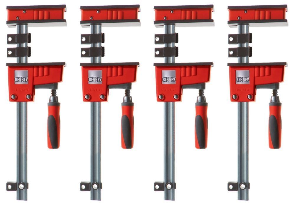Bessey KR3.512 12-inch K-Body REVO Large Parallel Clamps with Handle, 4-Pack
