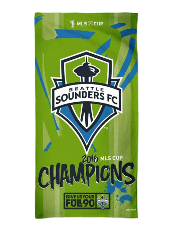 Seattle Sounders FC 2016 MLSカップChampions Spectraビーチタオル(30