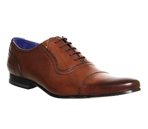 55c22d5201d14 Ted Baker Rogrr Toe Cap Tan Leather - 10 UK  Amazon.co.uk  Shoes   Bags