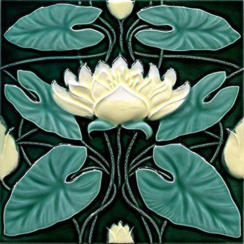 Art Nouveau Ceramic Tile 6 Inches Reproducction #0055
