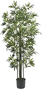 "Nearly Natural Bamboo Silk, 6-Feet, Green Artificial Tree, 72"" x 9"" x 9"""
