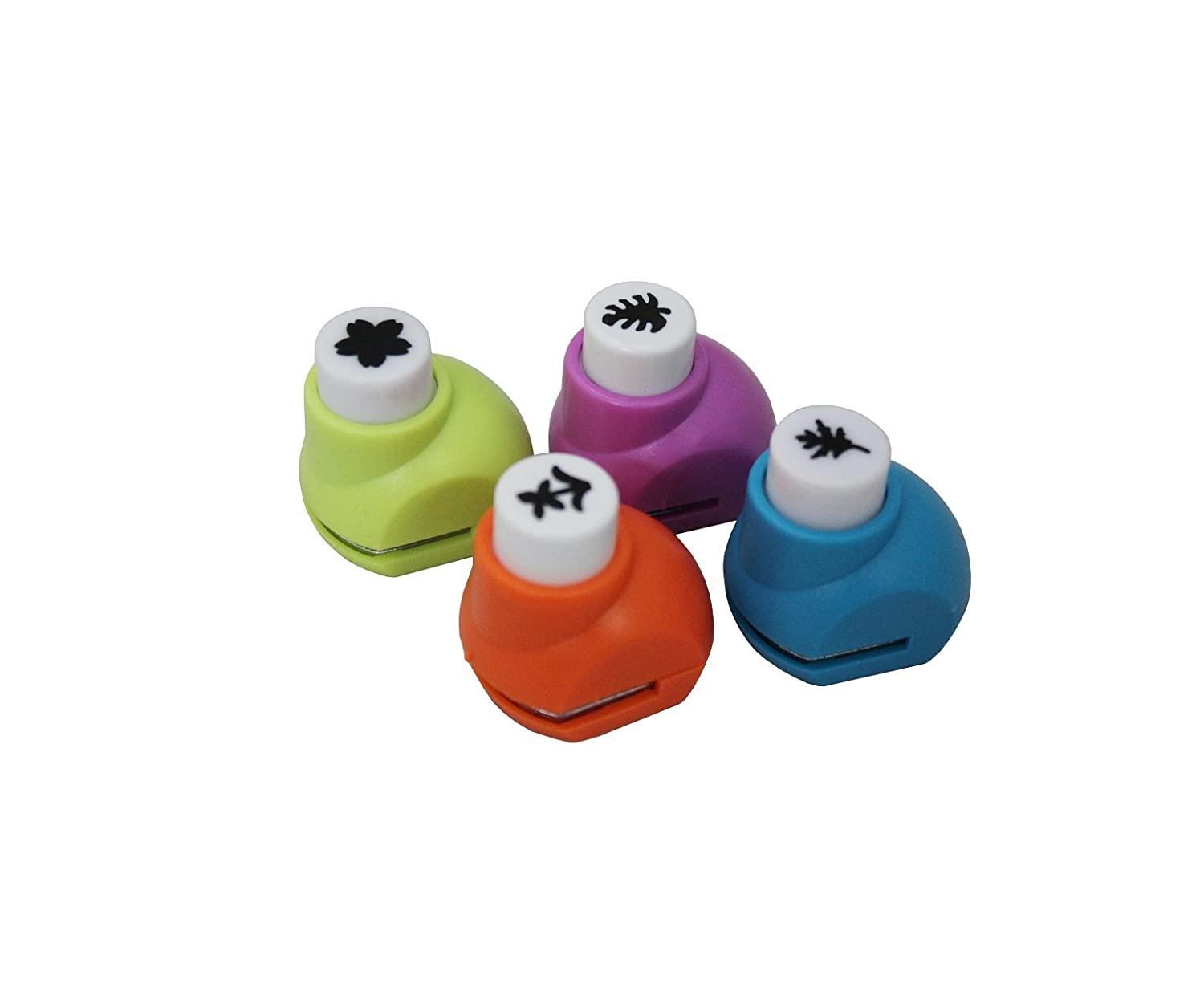 Buy shopaholic innovative craft paper punch for diy paper shape buy shopaholic innovative craft paper punch for diy paper shape for card making 4pc online at low prices in india amazon jeuxipadfo Choice Image