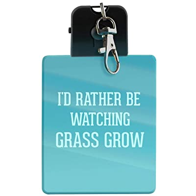 I'd Rather Be Watching GRASS GROW - LED Key Chain with Easy Clasp: Shoes