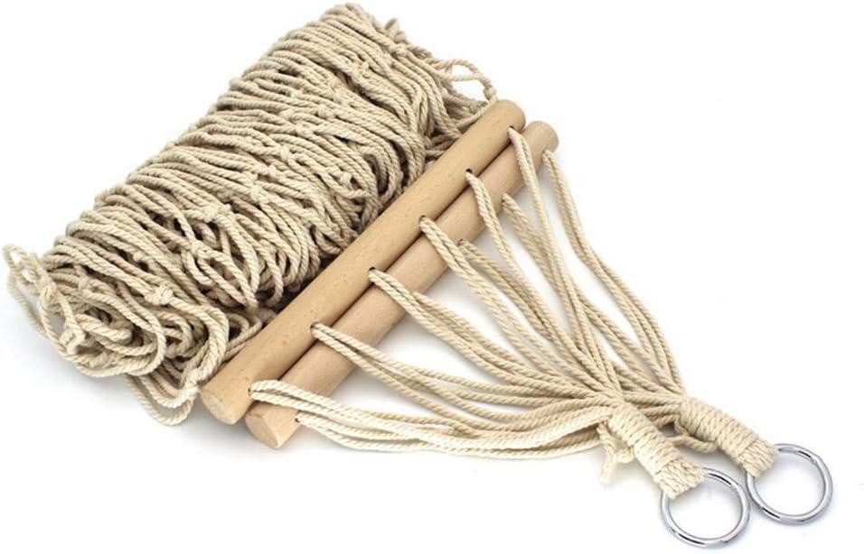 senza supporto capacit/à di peso 220 kg barre in legno doppia extra larga Amaca in corda di cotone biologico Envisioni The Garden 2,8 lunghezza totale 2,2 m