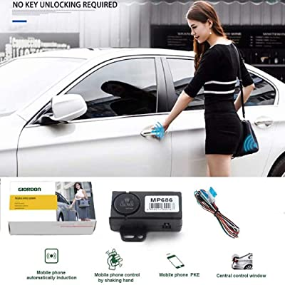 Universal car Door Lock Keyless Entry Car Alarm System Car Remote Locking/Unlock Automatic Trunk Opening Remote Central Kit with Smartphone APP Bluetooth: Car Electronics