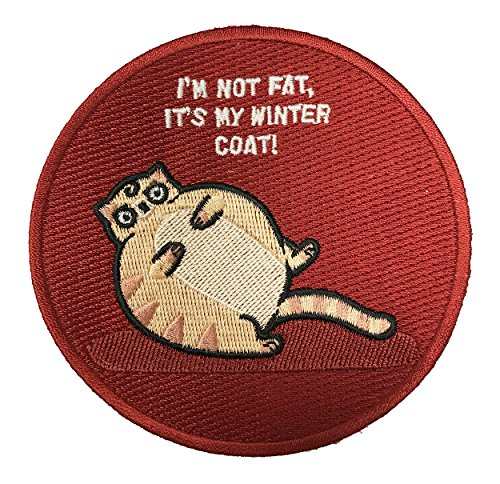 """Randy Otter """"Not A Fat Cat My Winter Coat"""" Iron On Patch"""