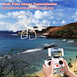 FPV-Drone-with-720P-HD-Camera-Live-Video-for-Beginners-RC-Quadcopter-Helicopter-with-Headless-Mode-One-Key-Return-360-Degree-Flip-and-Roll-Low-Power-Alarm-Two-Batteries-and-Fire-proof-Bag-White