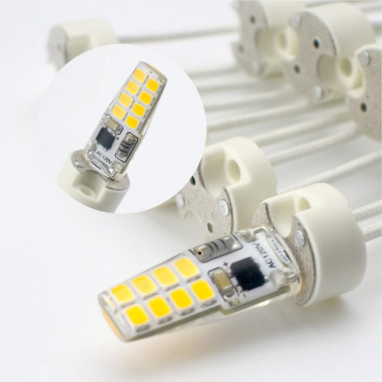 G8 LED Bulb Halogen lamp Socket Wire Connector Retrofit RAYHOO G8 Bi-Pin Base Socket Ceremic G8 Lamp Holder Socket 10-PACK