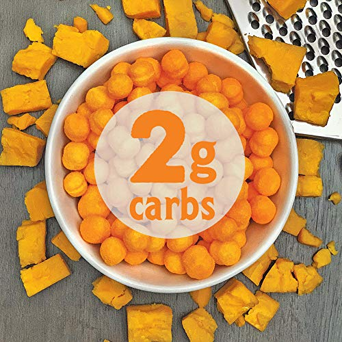 Shrewd Food Keto Protein Puffs, Low Carb, High Protein, Healthy Cheese Puff, 14g per Pack, 2g Carbs, Gluten Free Snacks, Real Cheese, Soy Free, Peanut Free, Baked Cheddar, 8 Pack 6