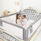 ZEHNHASE Barandilla de La Cama Guardia de Seguridad para Niños, Portátil Barrera de cama para bebé Protección contra…