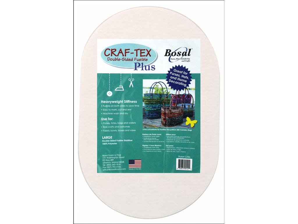 Bosal Dbl Side Oval 2pc Craf-Tex Fusible Double Sd Plus Lg by Bosal