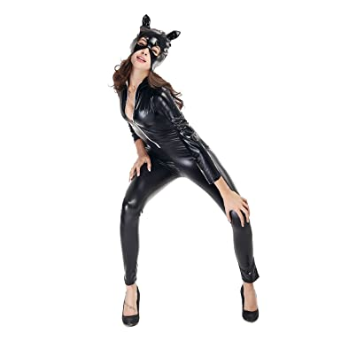 Amazon.com: TINKSKY Womens Halloween Sexy Catsuit Cosplay ...