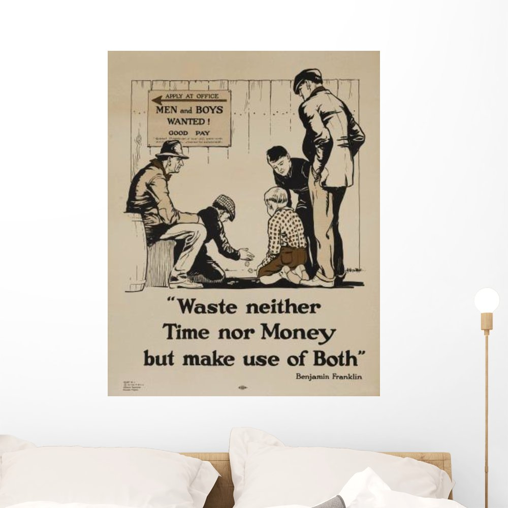 Amazon com wallmonkeys 1920s ymca personal finance poster wall decal peel and stick graphic wm226625 24 in h x 19 in w home kitchen