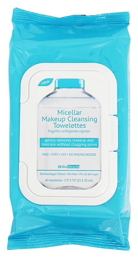 BioMiracle - Toallitas de limpieza maquillaje micelar - 60Towelette(s)