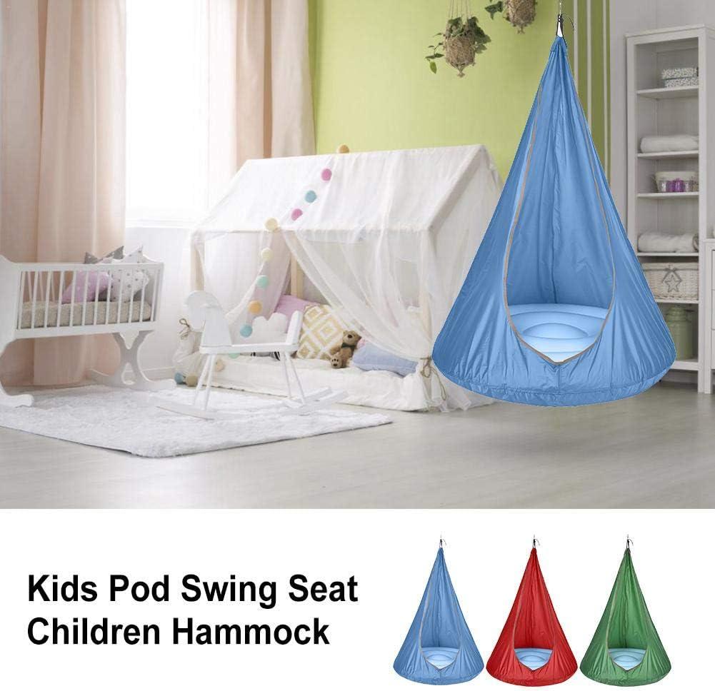 decaden Doodle Kids Child Pod Swing Chair Nook Tent Indoor Outdoor Hanging Seat Hammock in Blue,Green,Red