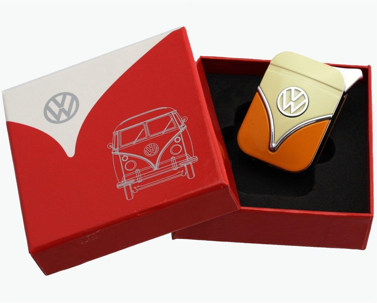 Volkswagen Originale accendino nella progettazione scudo anteriore - in diversi colori - Gift Set (VW-Bulli-giallo-arancio) Volkswagen VW Polyflame