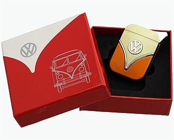 Volkswagen GELB ROT T1 T2 hochwertiges Feuerzeug in Geschenkbox VW Bulli