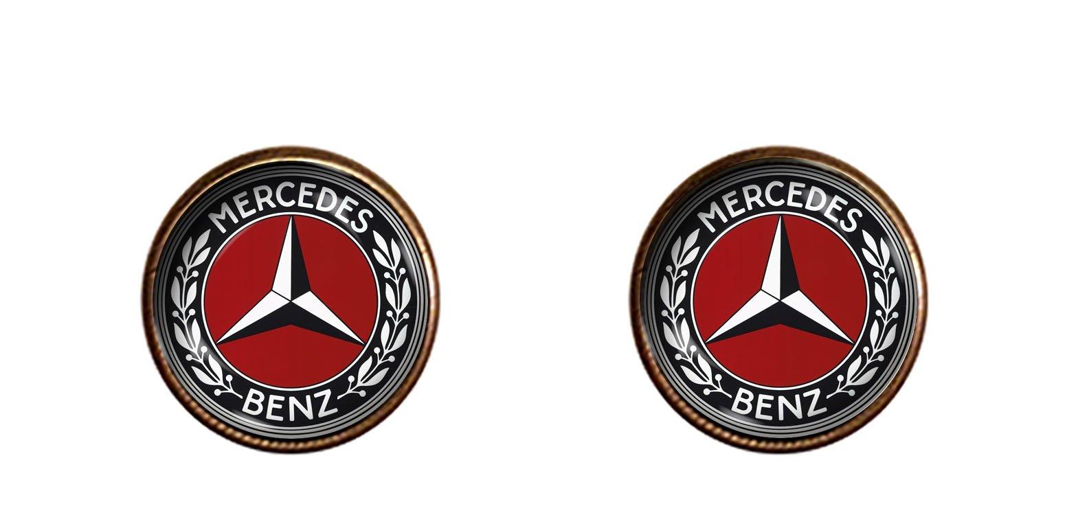 Mercedes Benz 12mm earrings handmade Automobile Wedding Groom jewelry gift charm