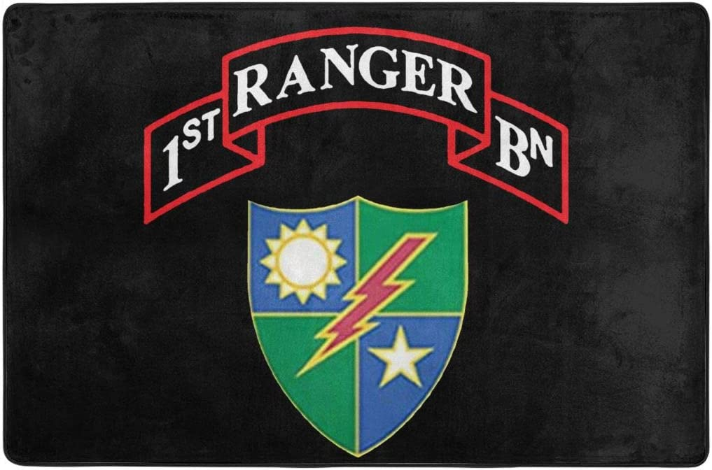 1st Battalion 75th Ranger Regiment Doormat Entrance Mat Floor Mat Rug Indoor Outdoor Front Door Bathroom Mats Rubber Non Slip