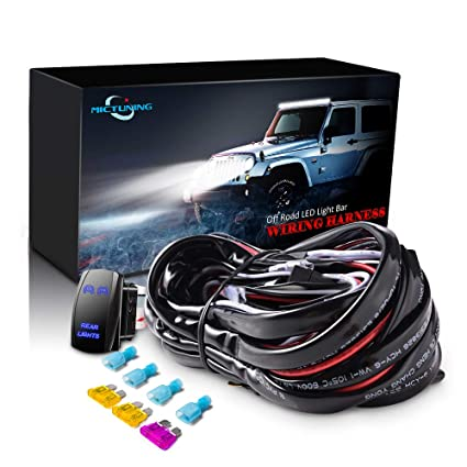 Phenomenal Amazon Com Mictuning Led Light Bar Wiring Harness 40Amp Relay Wiring Database Obenzyuccorg