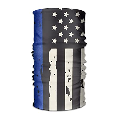3f3f021b83907 Jadetian Usa Flag Thin Blue Line Men's Headwear Womens Bandanas Outdoor  Headscarf Elastic Bandanas Handkerchief