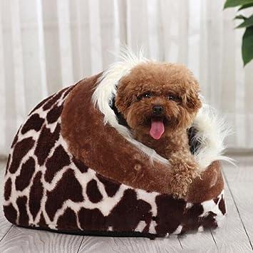 Tinksky suave algodón interior cama casa nido para mascota perro cachorro gato (leopardo): Amazon.es: Productos para mascotas