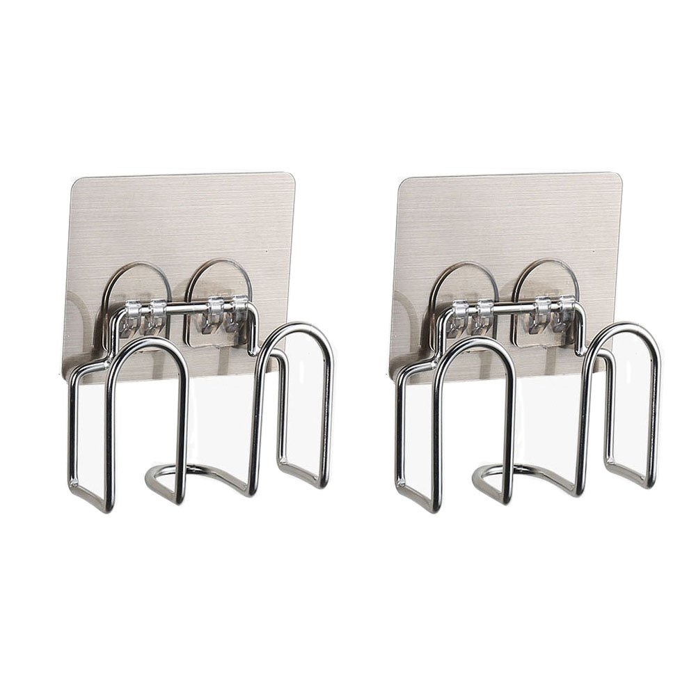 2 Pcs Stainless Steel Kitchen Sink Caddy and Sponge Holder with Strong Suction for Sponges, Scrub Brushes, Soap Ecreate SQ-G005x2-k