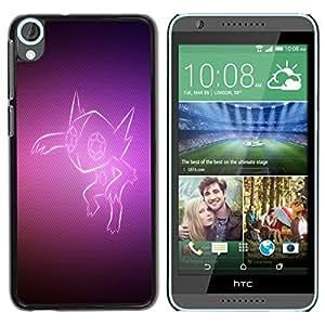 LECELL -- Funda protectora / Cubierta / Piel For HTC Desire 820 -- Purple Fox --