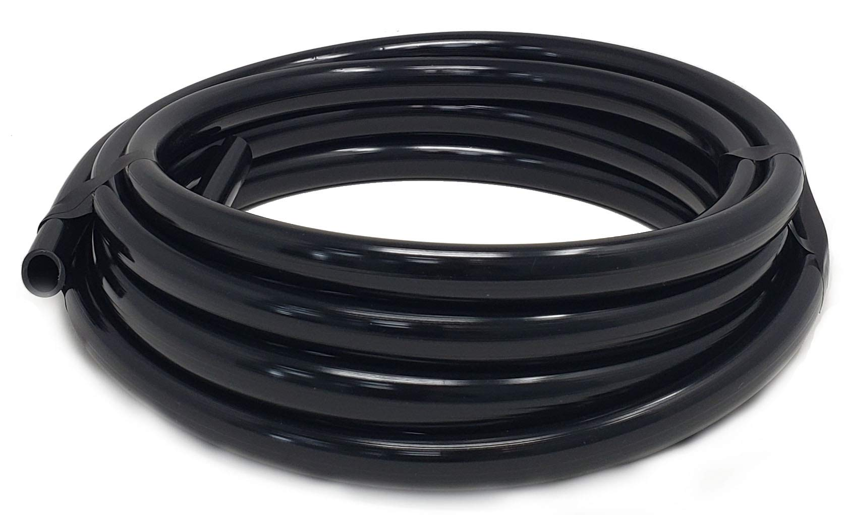 Sealproof 1/2 Inch Vinyl Pond Tubing, 20 FT, Black, Made in USA, UV Resistant, Fish Safe by Sealproof